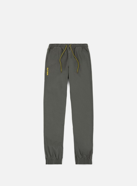 pantaloni iuter jogger pants dark grey yellow