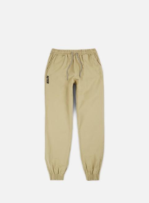 pantaloni iuter jogger pants sand black