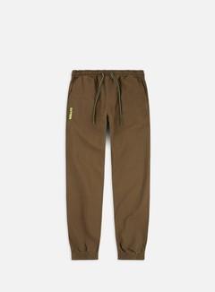 Iuter - Jogger Pants, Tobacco/Yellow Fluo