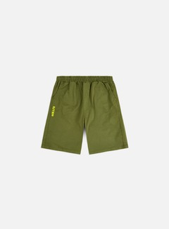 Iuter - Jogger Shorts, Army/Yellow