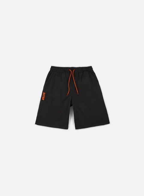 pantaloni iuter jogger shorts black orange