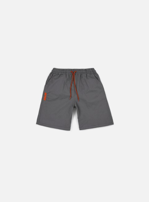 pantaloni iuter jogger shorts dark grey orange