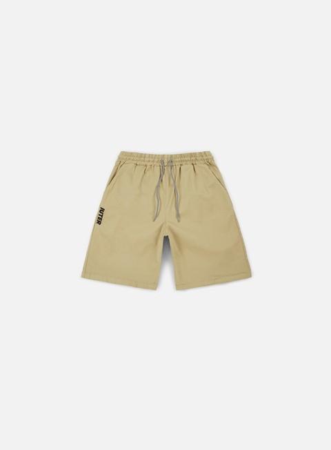 pantaloni iuter jogger shorts sand black