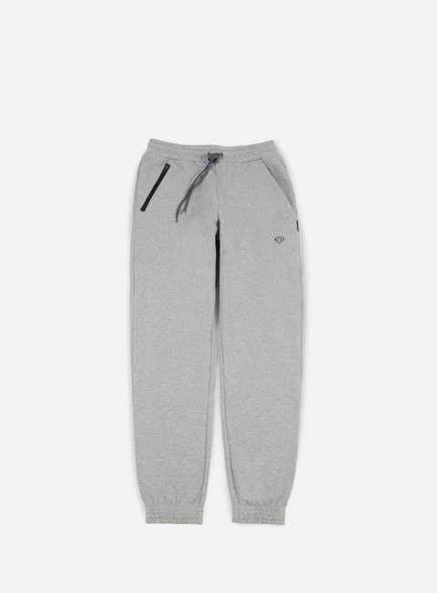 pantaloni iuter micrologo pants light grey