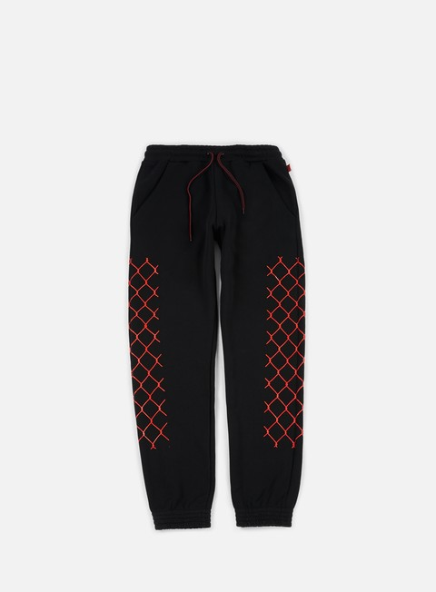 pantaloni iuter net pants black