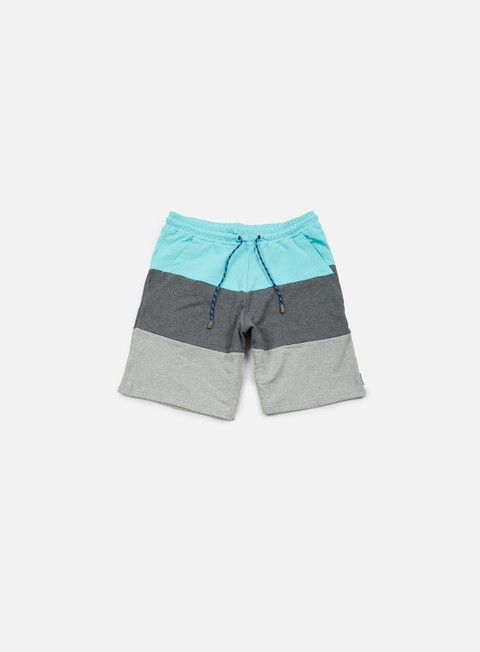 pantaloni iuter rule sweat shorts lagoon