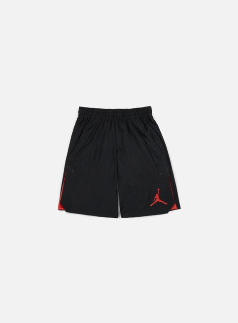 pantaloni jordan 23 alpha knit short gym red black