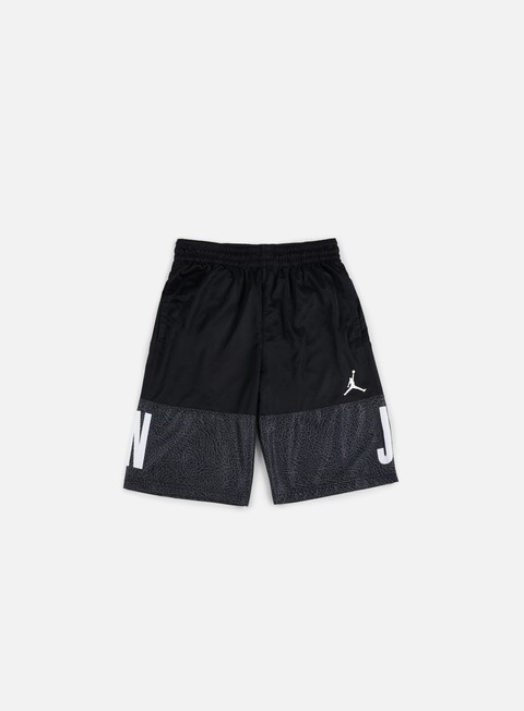 pantaloni jordan aj blackout short black white