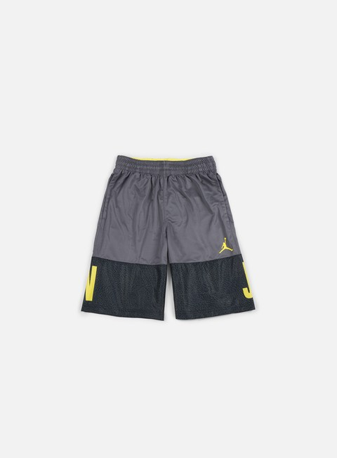 pantaloni jordan aj blackout short dark grey opti yellow