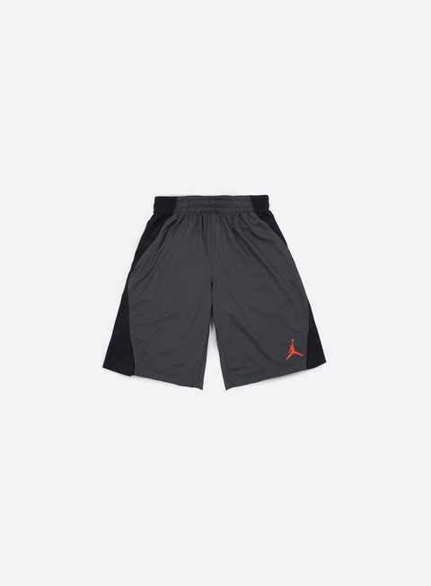 pantaloni jordan basketball flight short anthracite gamma orange