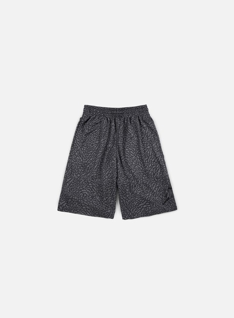 pantaloni jordan elephant blackout short dark grey black