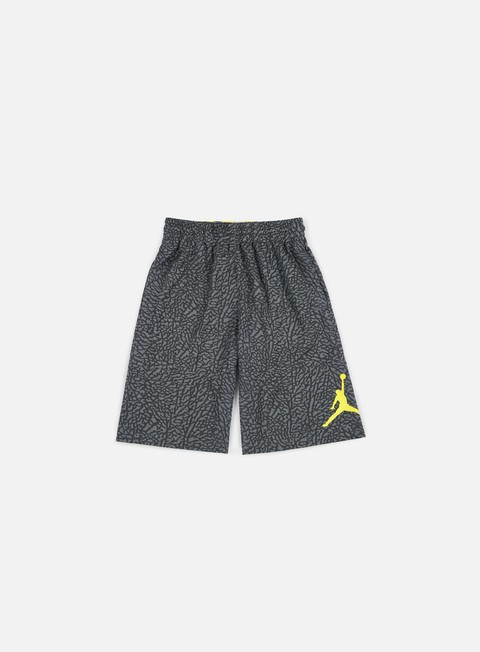 pantaloni jordan elephant blackout short dark grey optic yellow