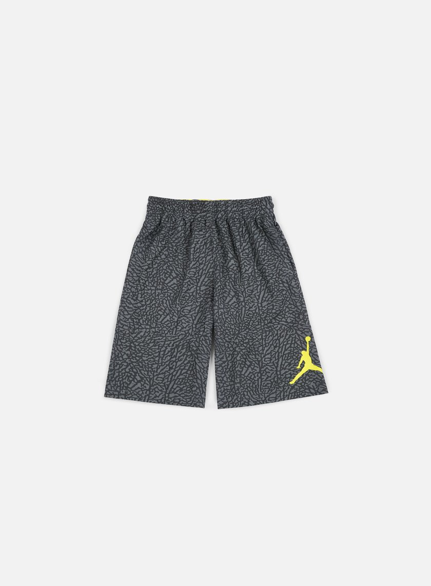 Jordan - Elephant Blackout Short, Dark Grey/Optic Yellow