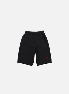 Jordan - Fleece Short, Black/Gym Red 1
