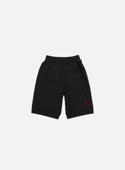 pantaloni jordan fleece short black gym red