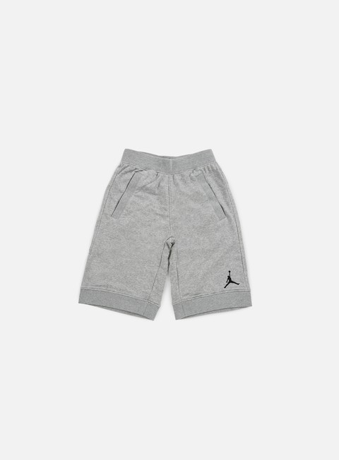 pantaloni jordan fleece short dark grey heather black