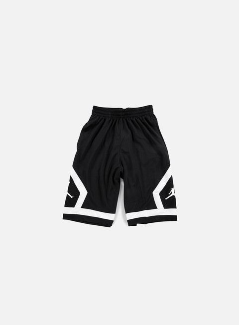 pantaloni jordan flight diamond short black white