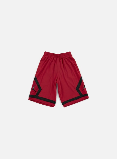 pantaloni jordan flight diamond short gym red black