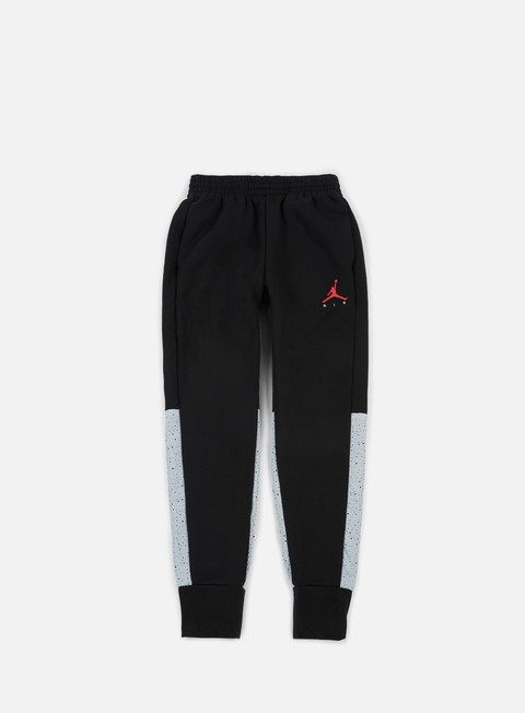 pantaloni jordan flight fleece cement pant black
