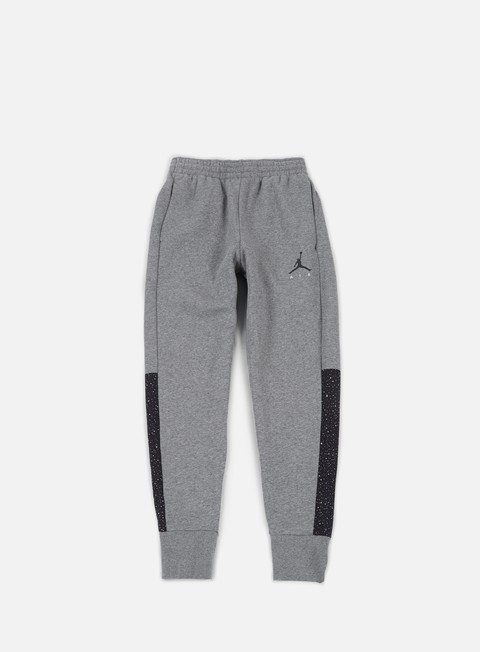 pantaloni jordan flight fleece cement pant cabon heather