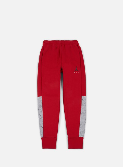 pantaloni jordan flight fleece cement pant gym red