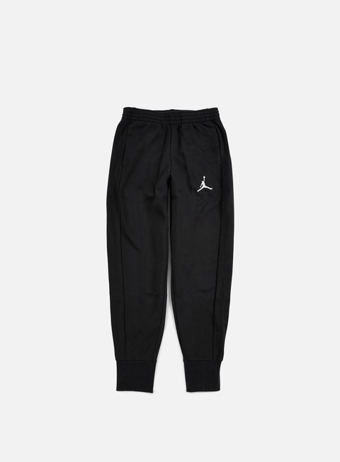 pantaloni jordan flight fleece pant black white