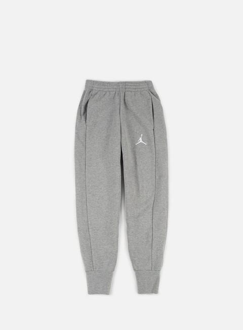 pantaloni jordan flight fleece pant carbon heather white