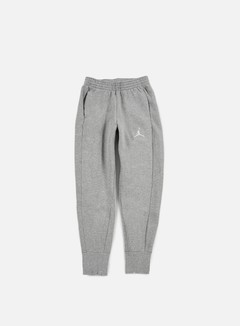 Jordan - Flight Fleece Pant, Dark Grey Heather/White 1