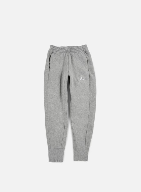 pantaloni jordan flight fleece pant dark grey heather white
