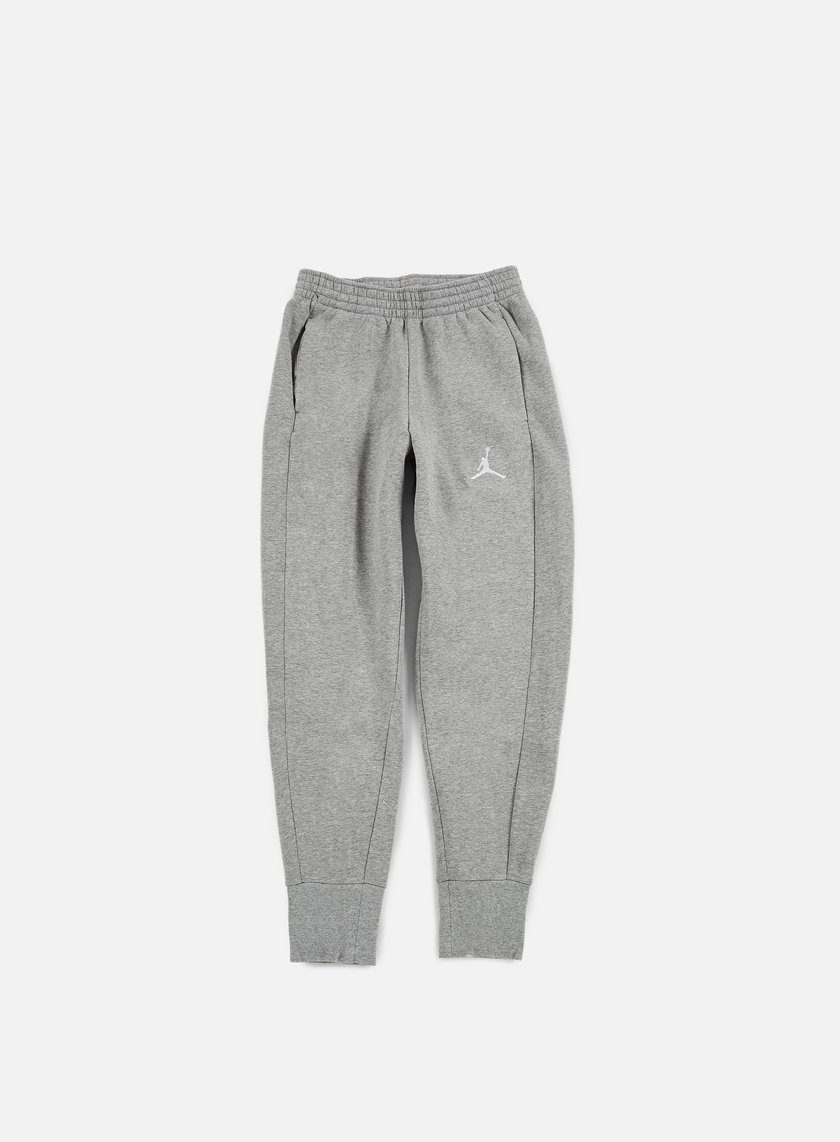 Jordan - Flight Fleece Pant, Dark Grey Heather/White
