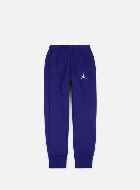 pantaloni jordan flight fleece pant deep royal blue white