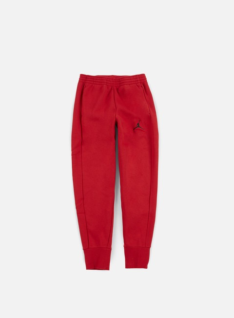 pantaloni jordan flight fleece pant gym red black