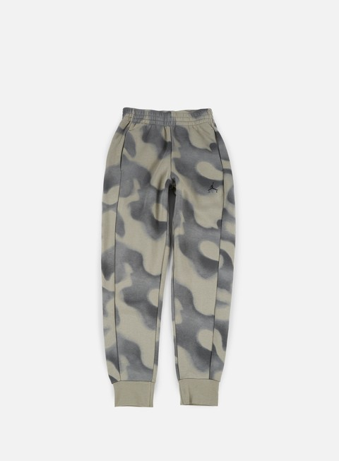 pantaloni jordan flight fleece pant river rock dark stucco