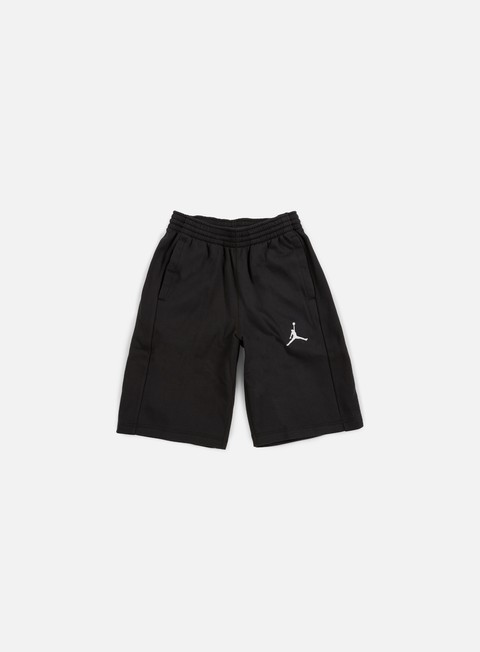 pantaloni jordan flight fleece short black white