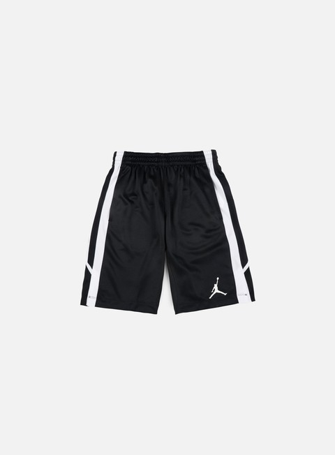 pantaloni jordan flight short black white
