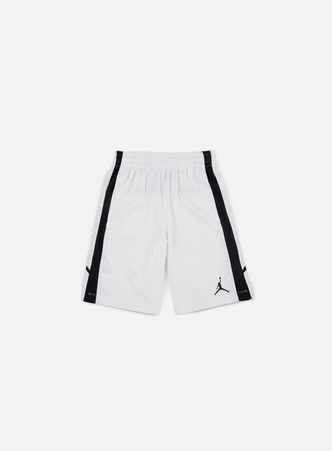 pantaloni jordan flight short white white black