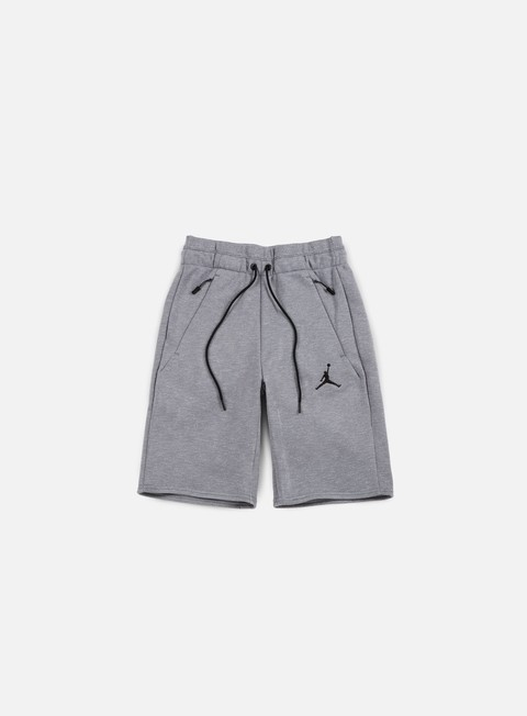 pantaloni jordan icon fleece short cool grey black