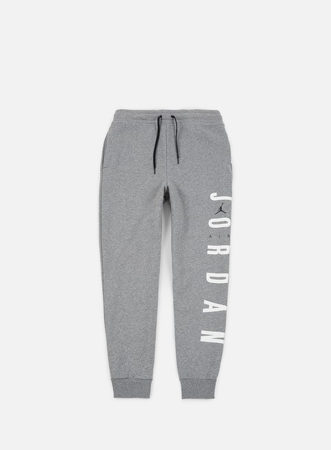pantaloni jordan jumpman air fleece pant carbon heather black