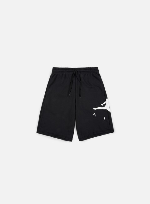 pantaloni jordan jumpman air fleece short black white