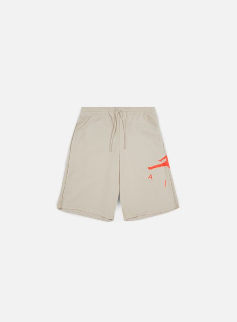 pantaloni jordan jumpman air fleece short desert sand infrared23