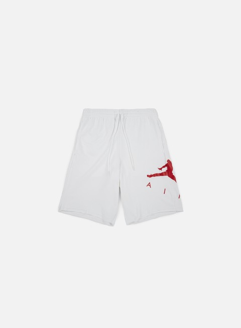 pantaloni jordan jumpman air fleece short white gym red