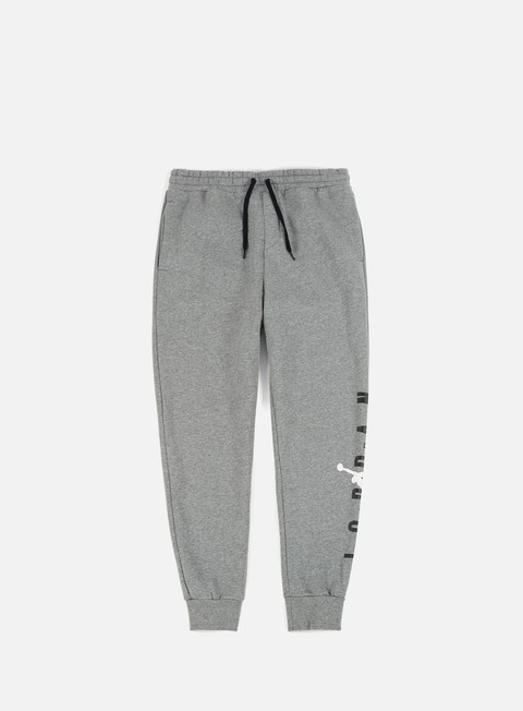 pantaloni jordan jumpman air gfx fleece pant carbon heather white