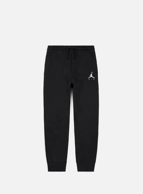 pantaloni jordan jumpman fleece pant black white