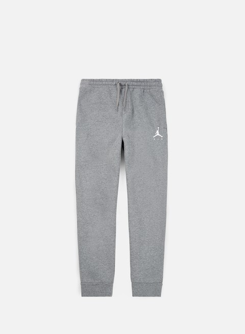 pantaloni jordan jumpman fleece pant carbon heather white