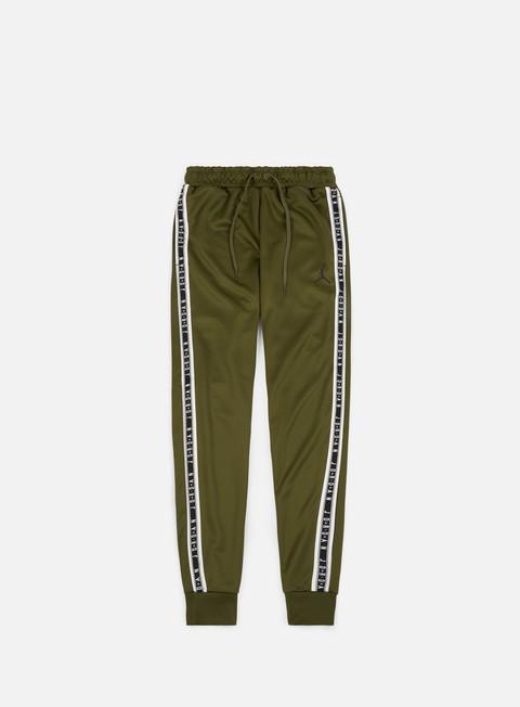 pantaloni jordan jumpman tricot pant olive black