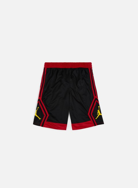 pantaloni jordan rise diamond short black gym red tour yellow