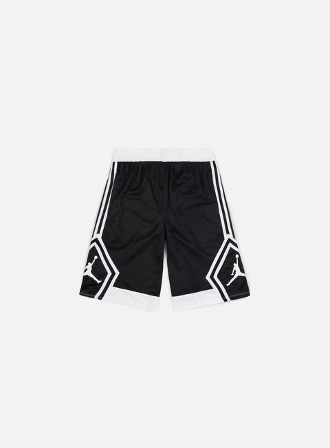 pantaloni jordan rise diamond short black white
