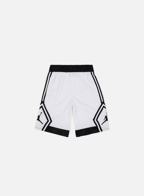pantaloni jordan rise diamond short white black
