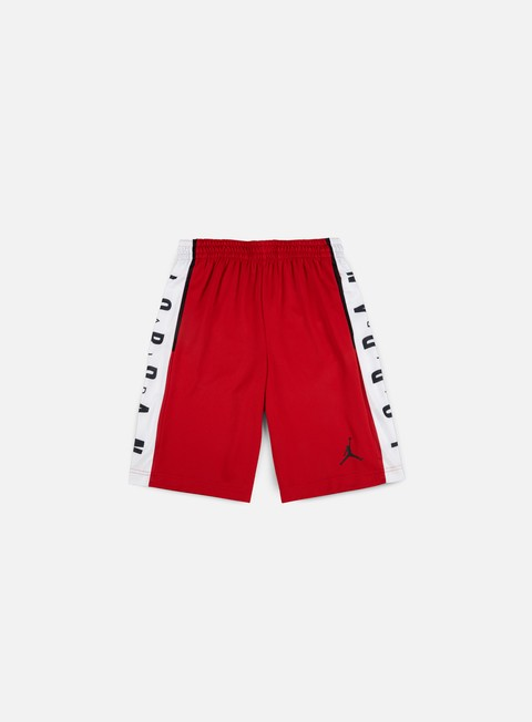 pantaloni jordan rise graphic short gym red white black