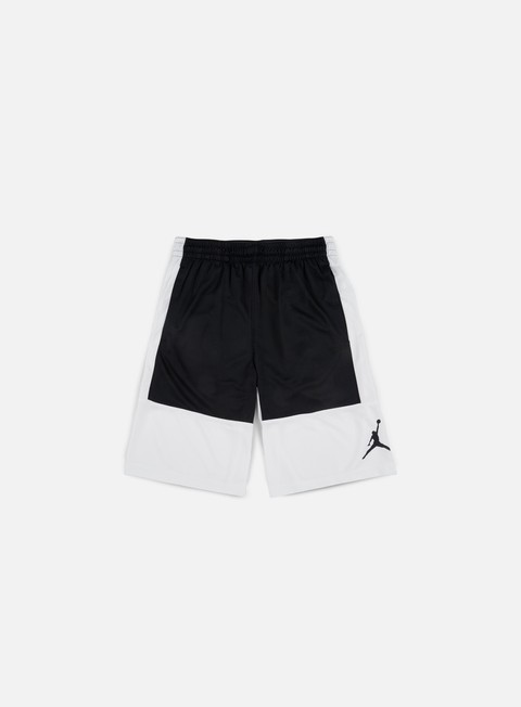pantaloni jordan rise solid short white black